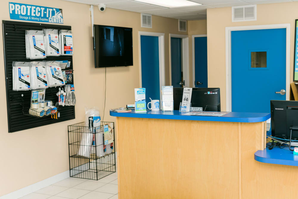 Atlantic Self Storage front desk and store