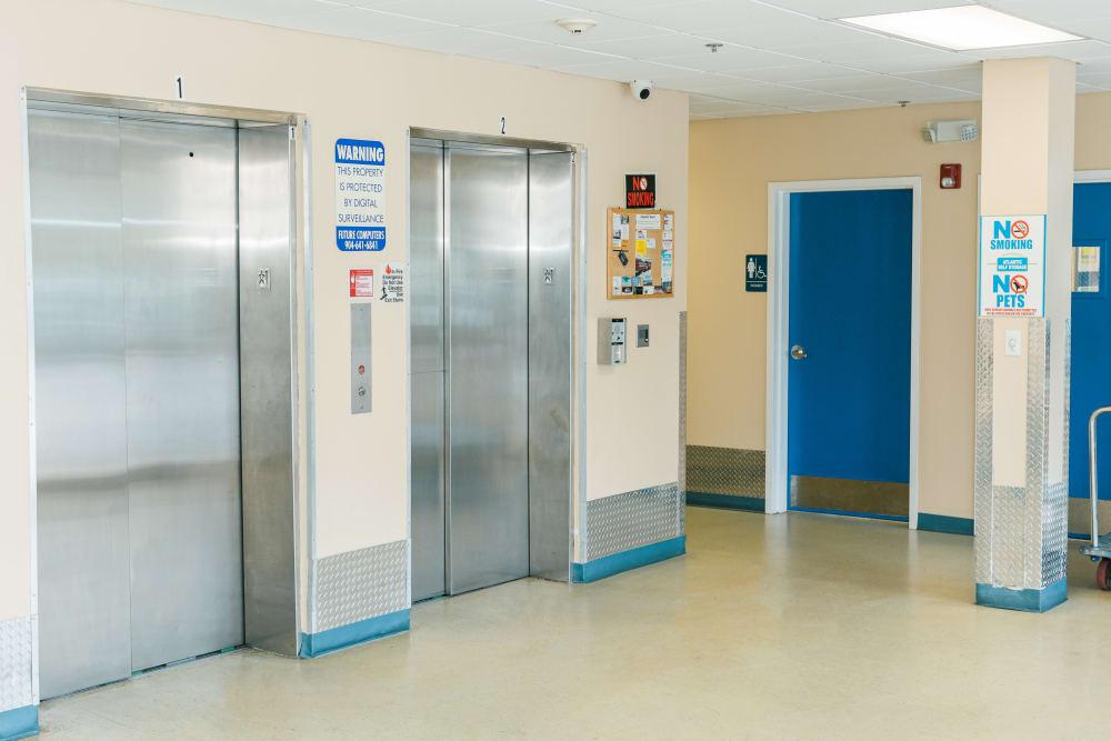 Atlantic Self Storage offers elevator access