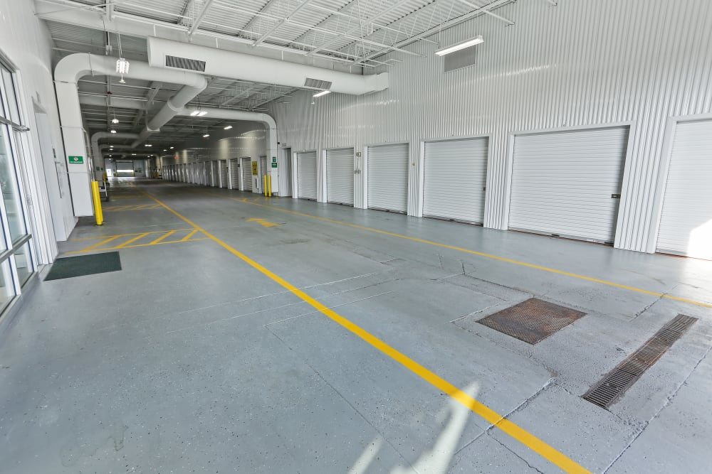 Inside of building at Global Self Storage in Rochester, New York