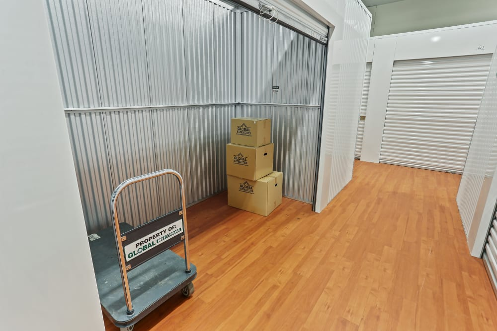 Indoor units at Global Self Storage in Rochester, New York