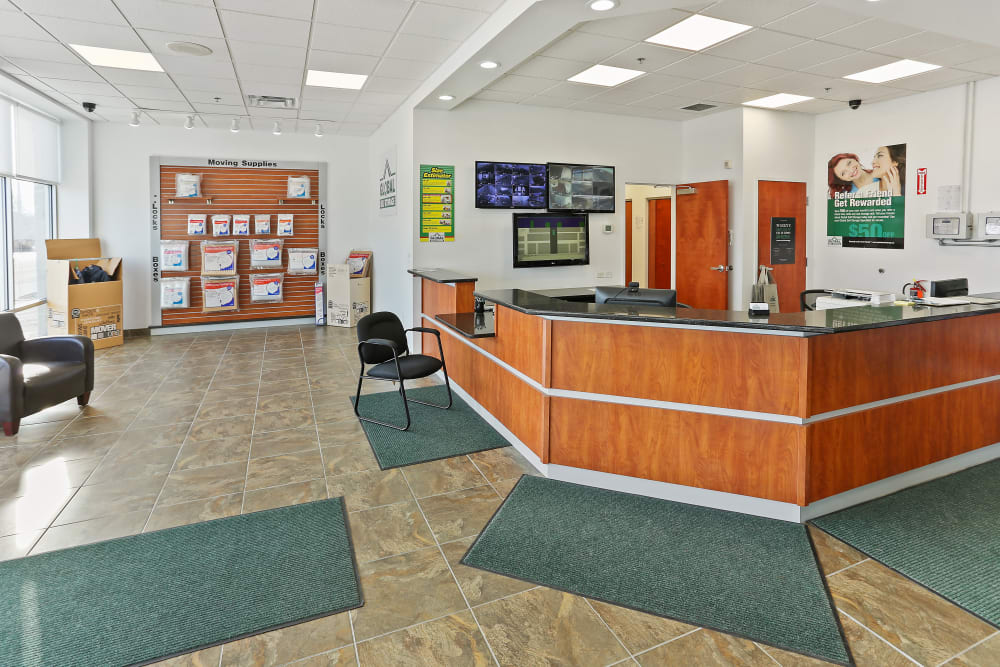Inside of the office at Global Self Storage in Rochester, New York