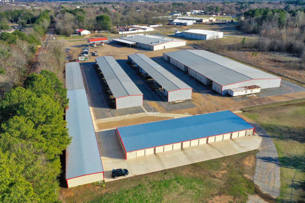 arial view of Lockaway Storage in Texarkana, Texas
