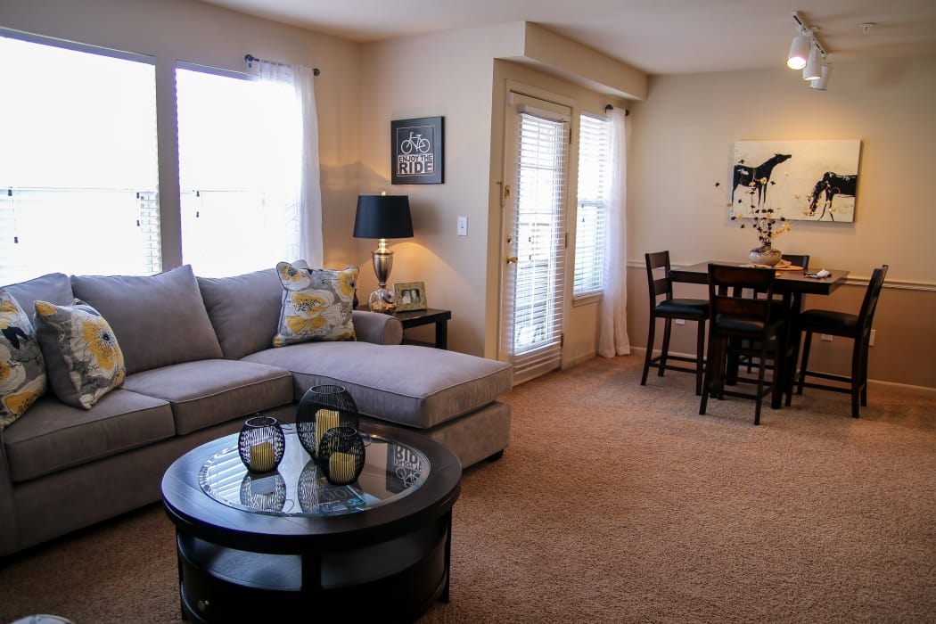 Living room at Winchester Apartments in Amarillo, Texas