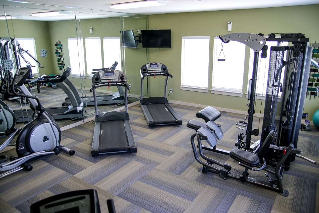 Fitness area at Winchester Apartments in Amarillo, Texas
