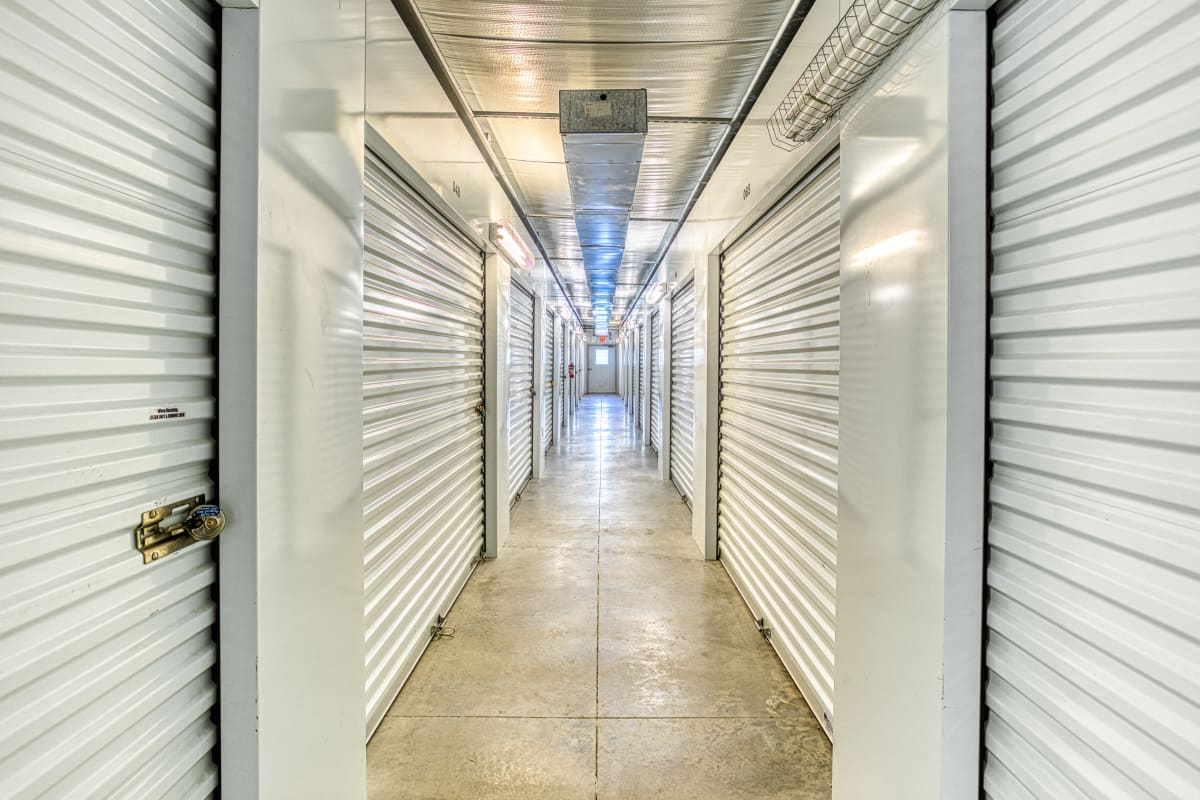 Climate-controlled storage units at Devon Self Storage in Wyoming, Michigan