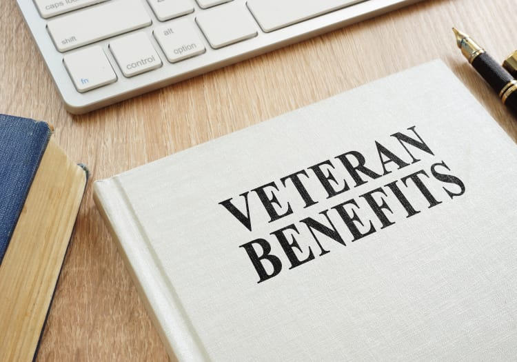 Veteran's benefits book at MBK Senior Living in Irvine, California