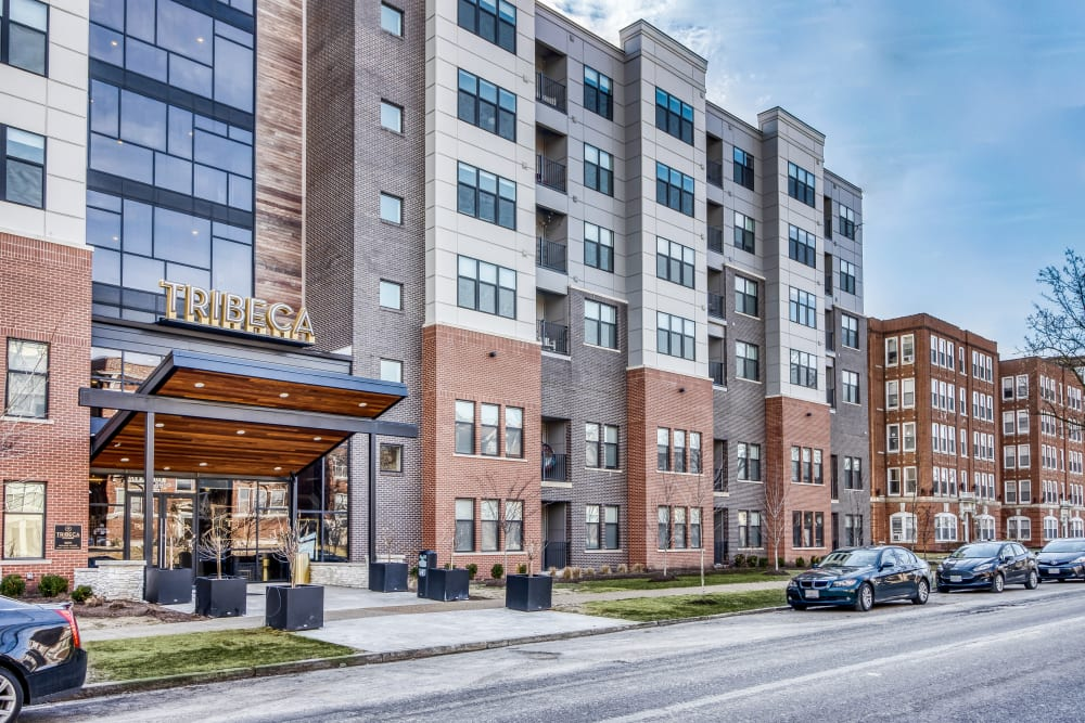 Exterior of Tribeca STL | Luxury Apartments in St. Louis, Missouri