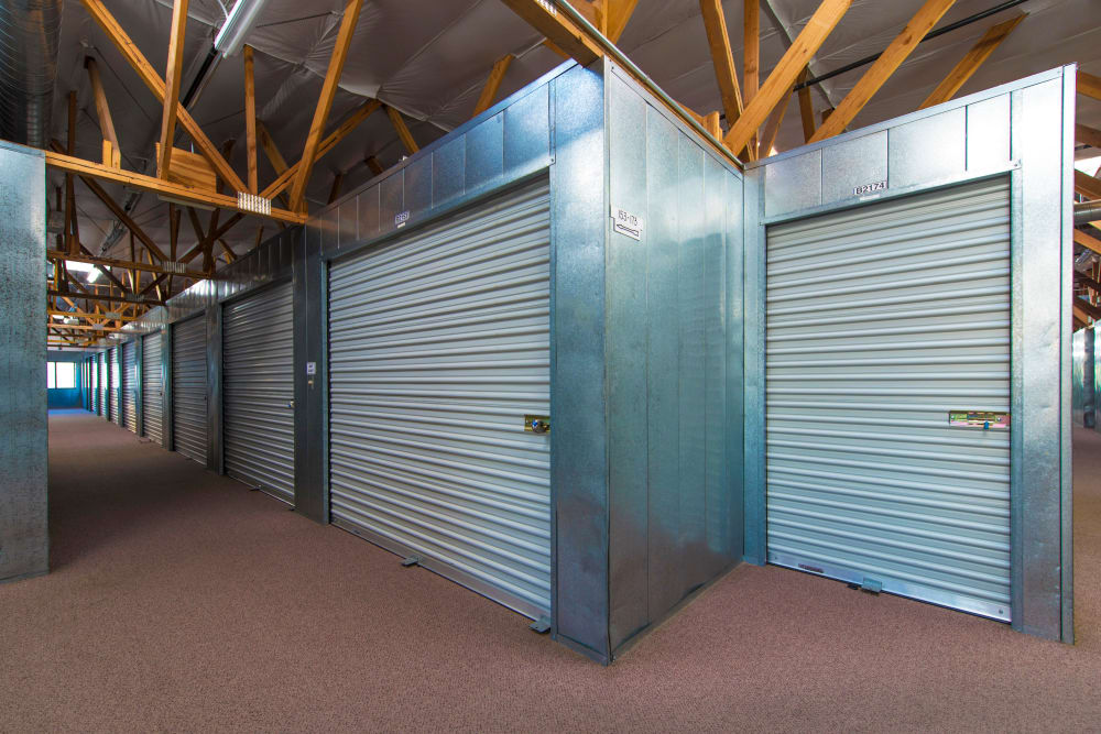 Clean hallways at Poway Road Mini Storage