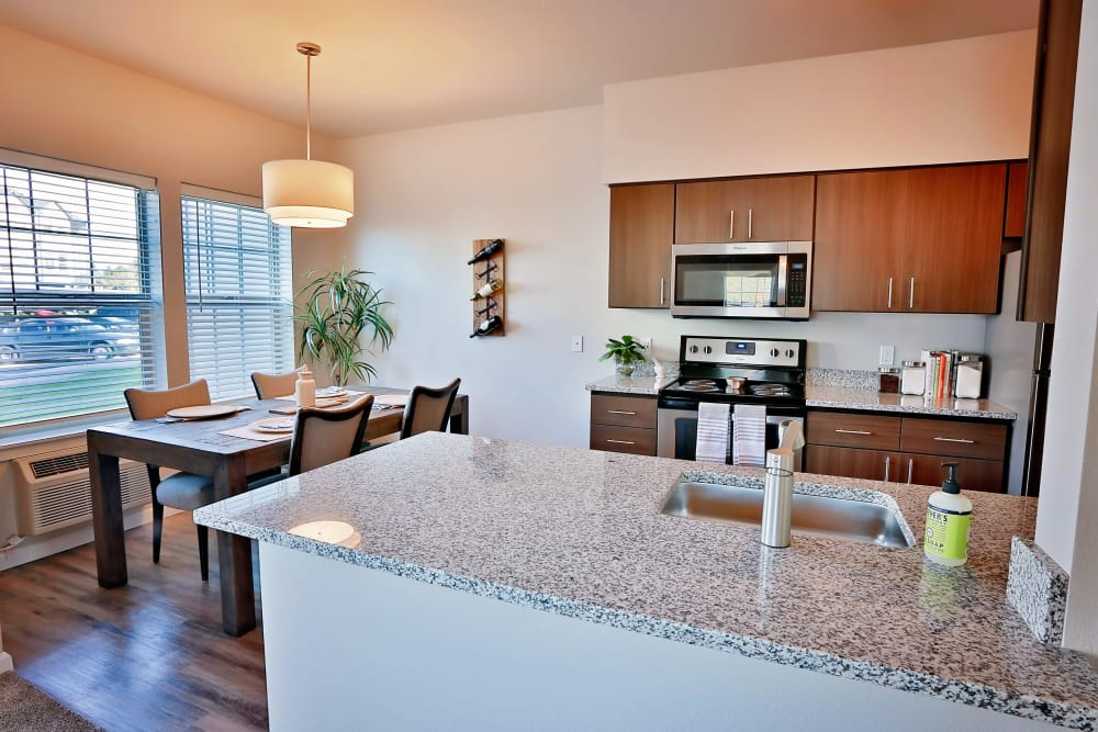 Kitchen at The Boulevard in Philomath, Oregon