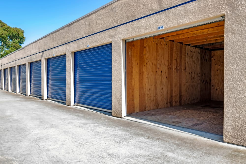 Large drive up units at Mira Mesa Self Storage