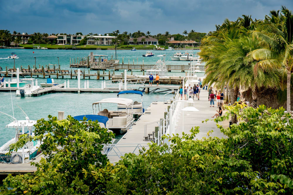 Boardwalk area near The Sophia at Abacoa in Jupiter, Florida