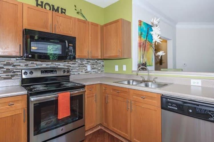 Kitchen at Highlands at Alexander Pointe in Charlotte, North Carolina