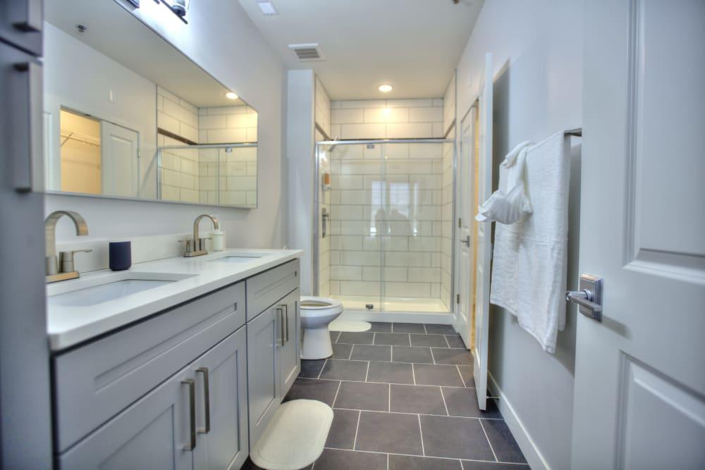 Bathroom rendering at Steelyard in St. Louis, Missouri