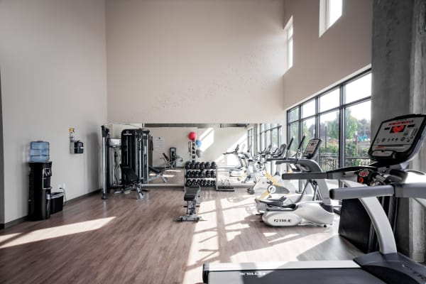 State-of-the-art fitness center at Grant Park Village in Portland