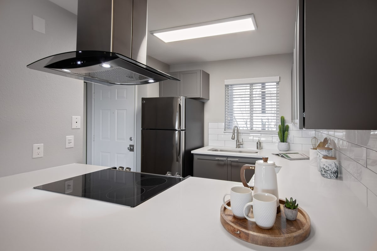 Beautifully designed kitchen in model home at MiLO at Mountain Park