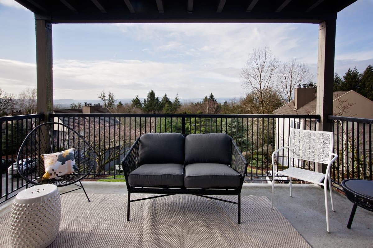 Spacious outdoor balcony at MiLO at Mountain Park
