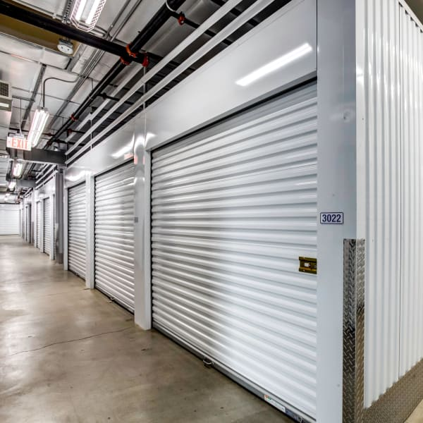 Indoor storage units at StorQuest Self Storage in Claremont, California