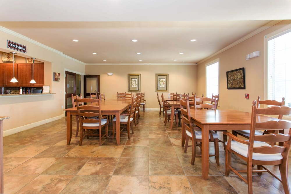 Dining area at Grand Parkway