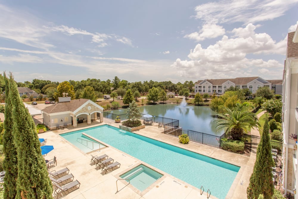 Arial view of the pool at Grand Parkway in Katy,TX