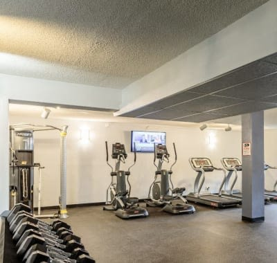 Fitness center at Towers on the Hudson in Troy, New York