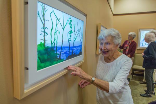 Seniors living a happy life here at Merrill Gardens at Kirkland