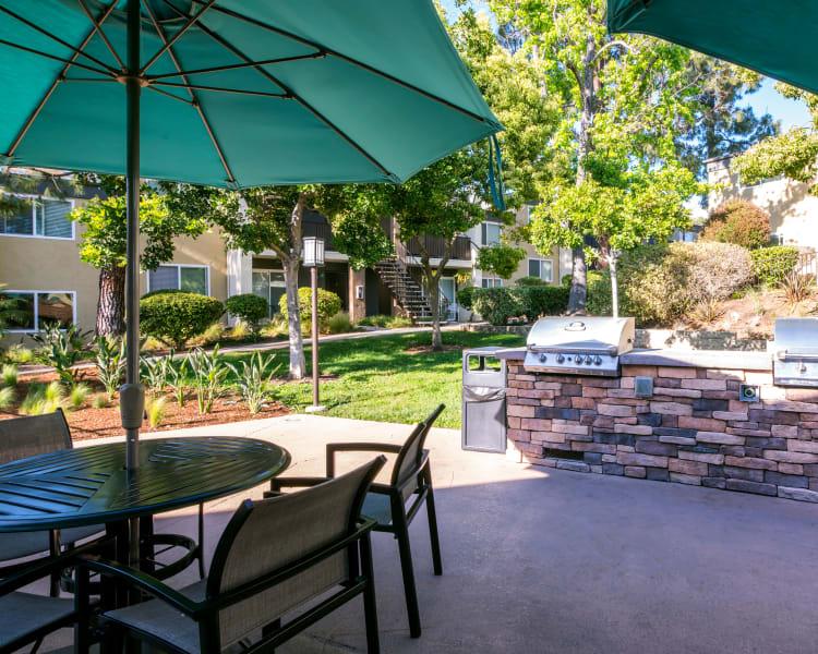 Resident garden near the barbecue area at Sofi Poway in Poway, California