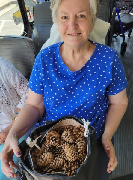 One energetic resident even collected an entire bag full of pinecones for a potential future project!
