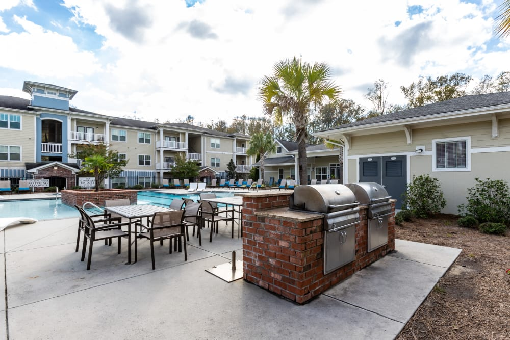 Grill area at Ansley Commons Apartment Homes in Ladson, South Carolina