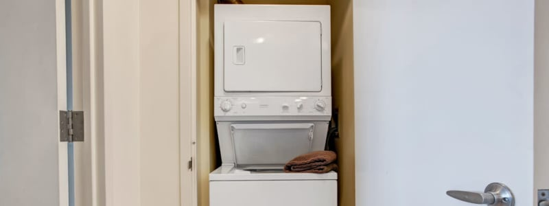 In-unit washer and dryer at Skyline New Rochelle in New Rochelle, New York