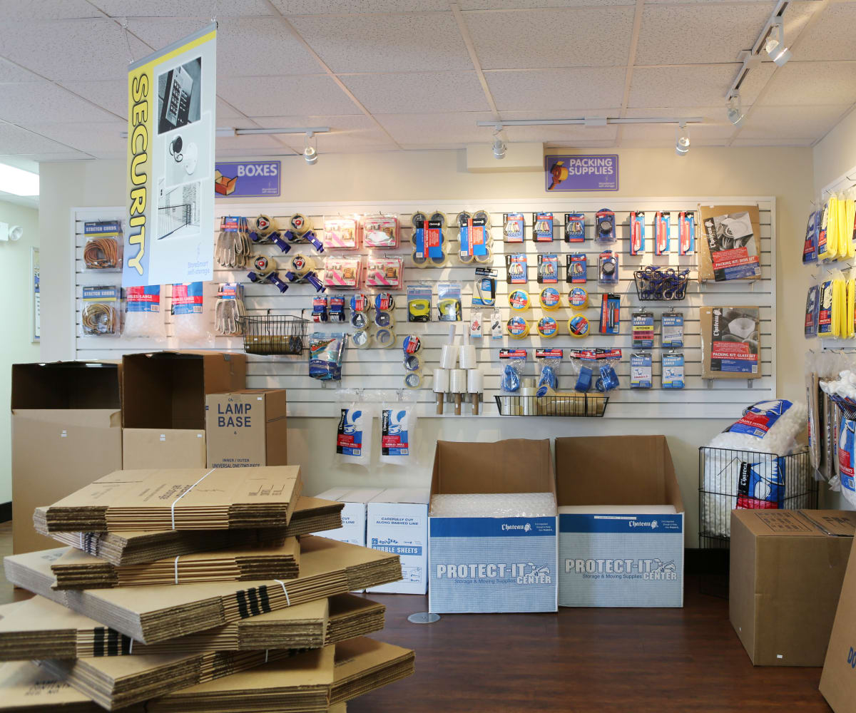 Packaging supplies sold at Midgard Self Storage in Bradenton, Florida