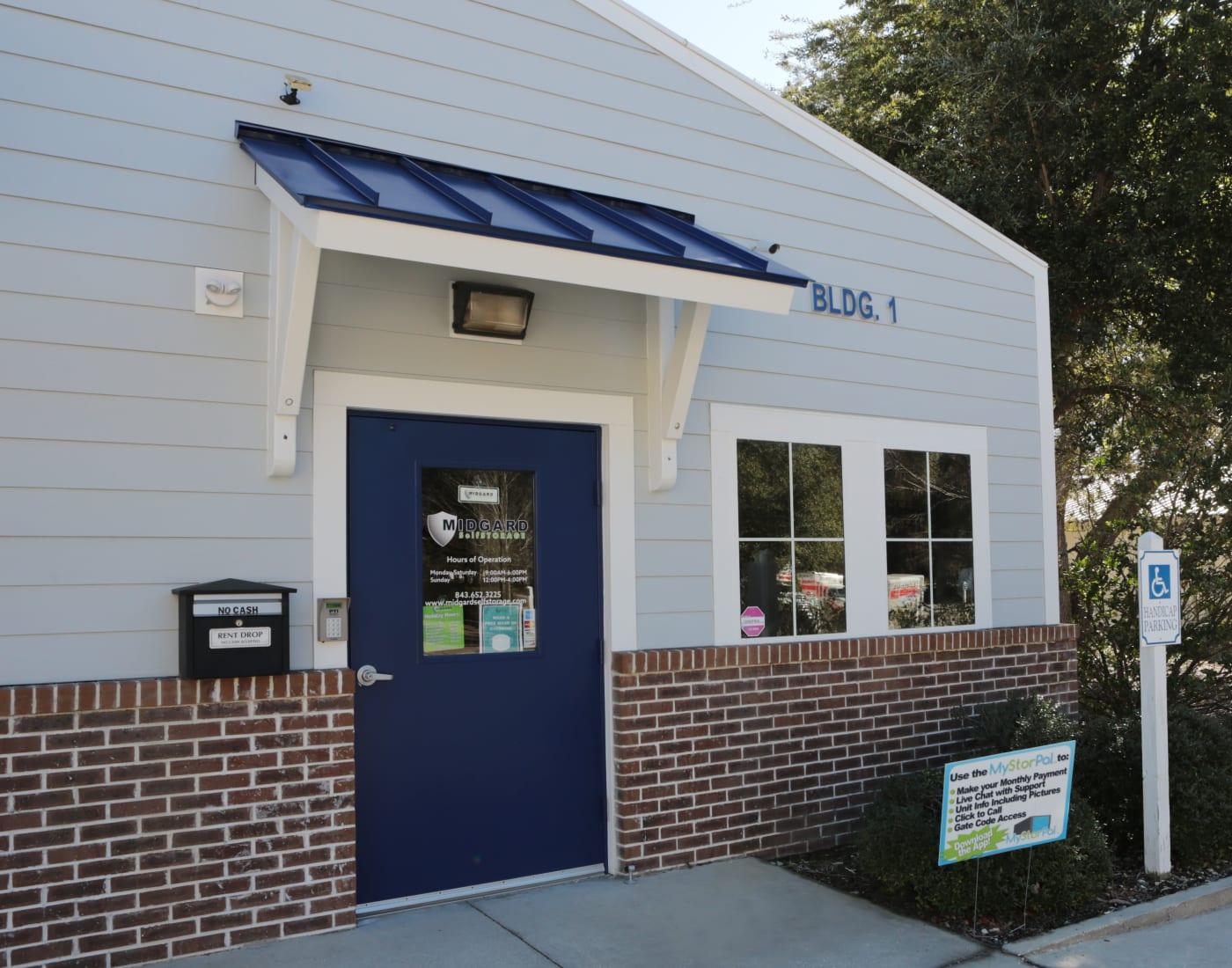 Office at Midgard Self Storage in Murrells Inlet, South Carolina