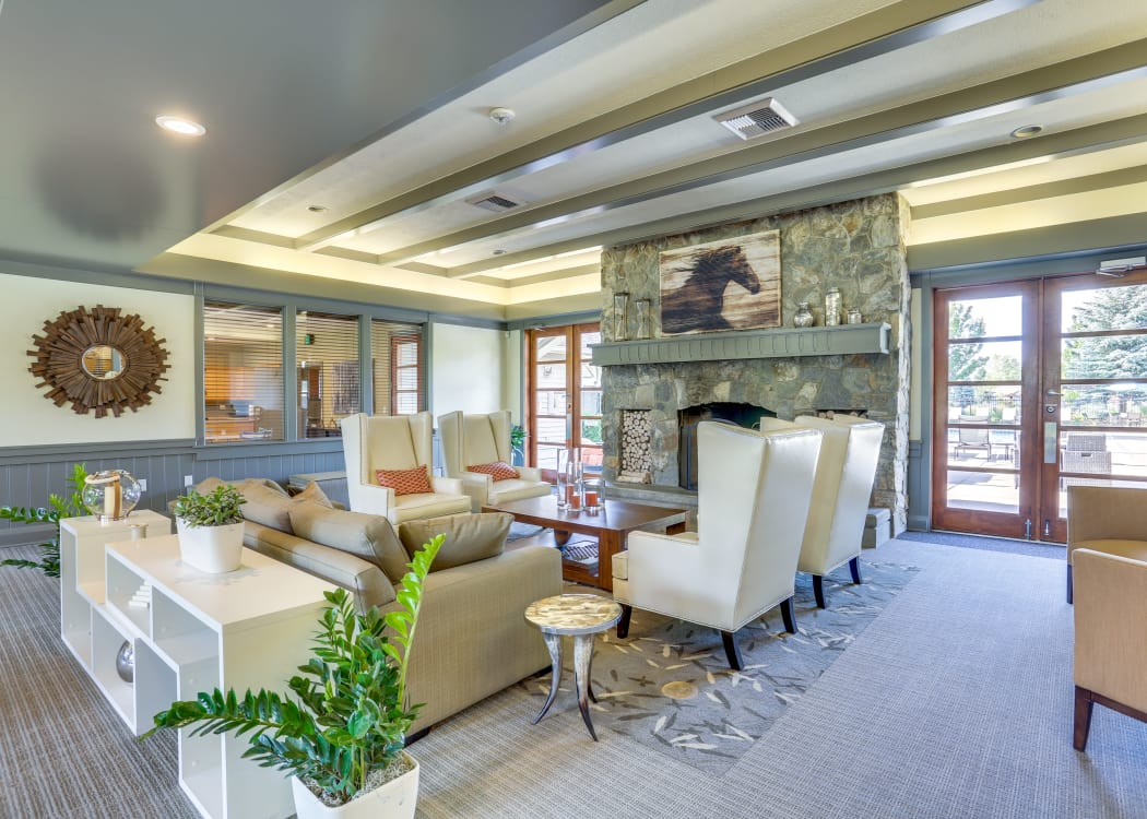 Luxurious resident clubhouse interior at Big Trout Lodge in Liberty Lake, Washington
