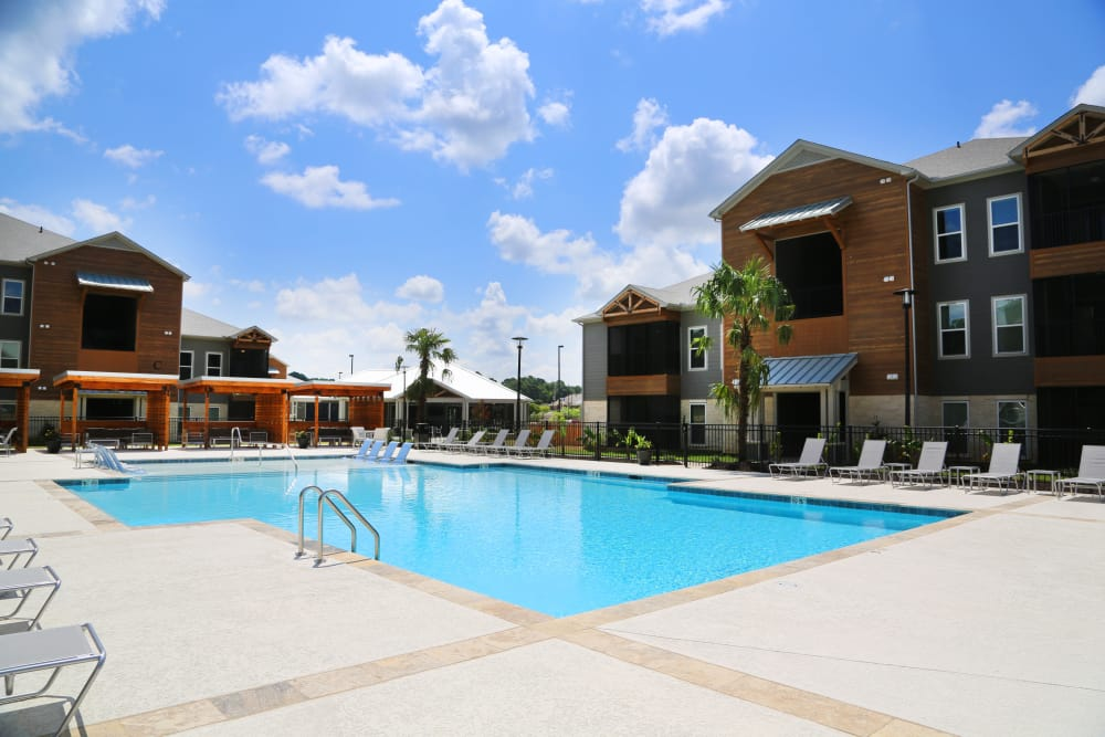 Swimming pool at North Village Apartments in Ruston, Louisiana