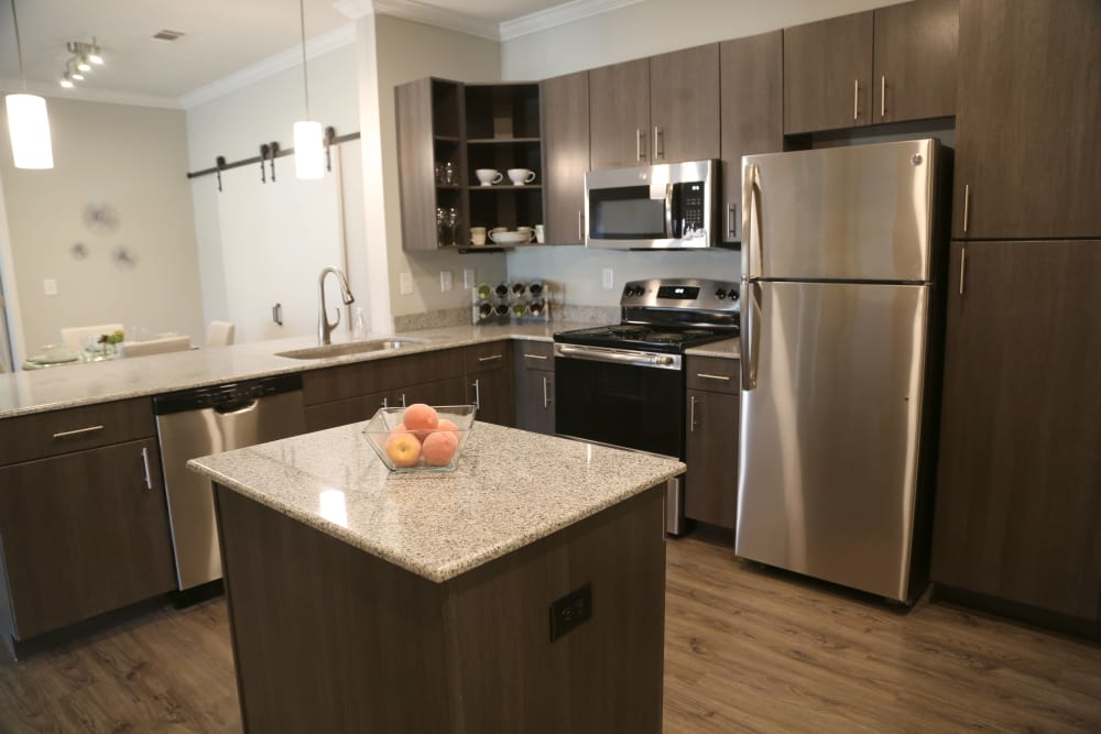 Kitchen at North Village Apartments in Ruston, Louisiana