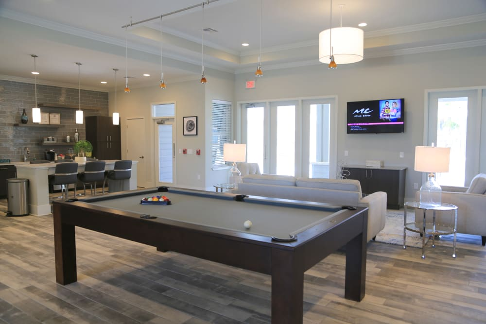 Pool table at North Village Apartments in Ruston, Louisiana