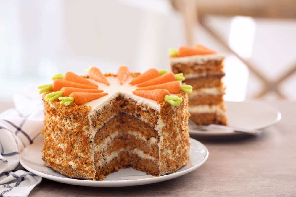 Carrot cake from Meridian Senior Living in Bethesda, Maryland