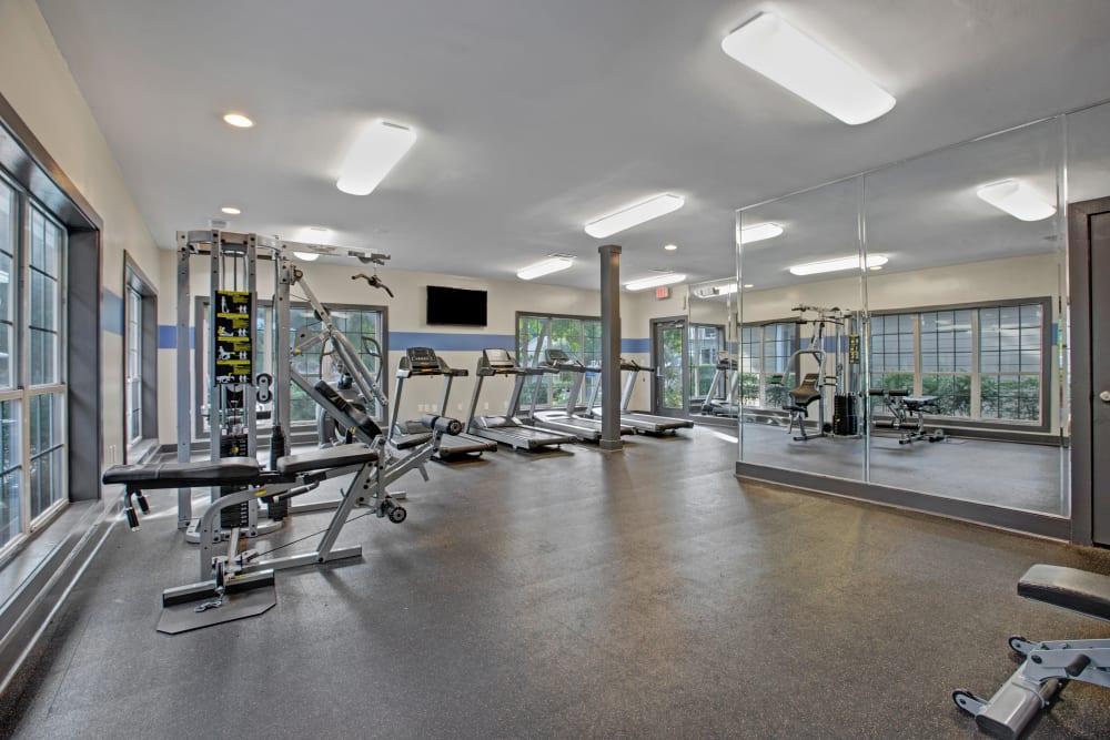 Onsite fitness center at Avia at North Springs in Atlanta, Georgia