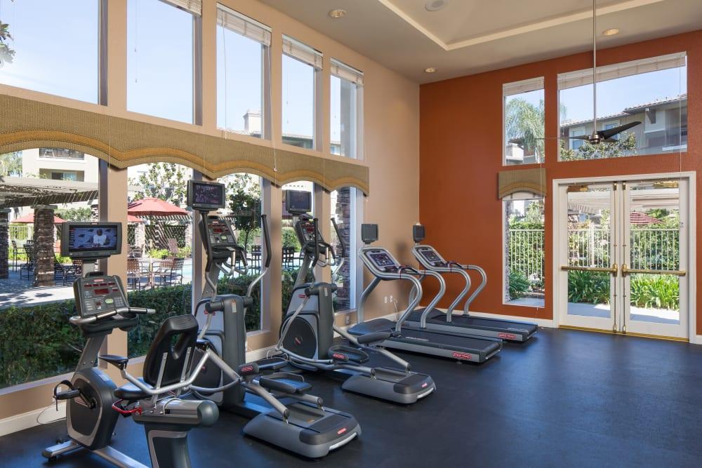 Onsite fitness center at Alicante Apartment Homes in Aliso Viejo, California