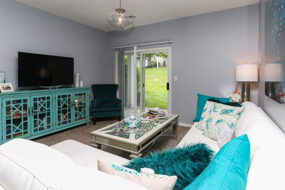 Newly Updated Living Room at Apartments in Louisville, Kentucky