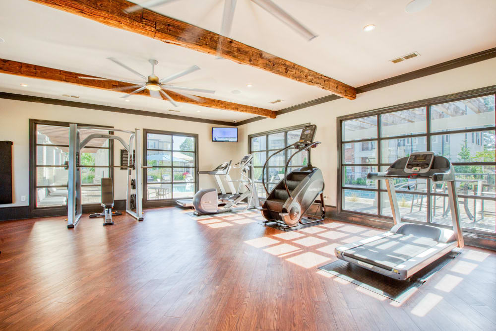 Beautiful fitness center at Springfield Apartments in Murfreesboro, TN