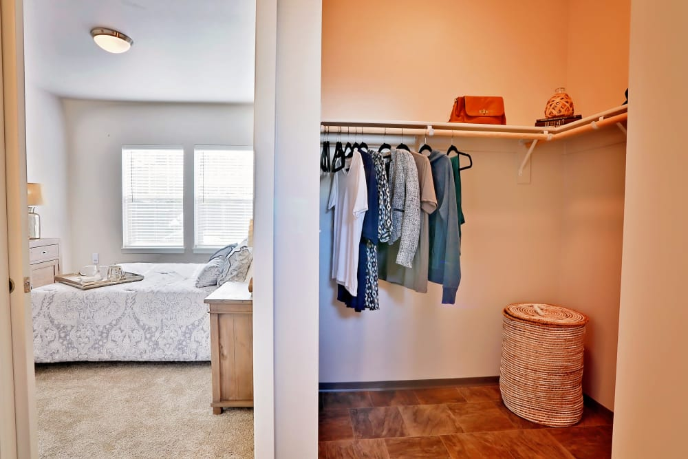 Bedroom w/ a Spacious Closet at The Boulevard in Philomath, Oregon