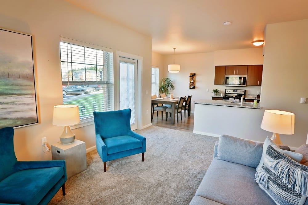 Living Room at The Boulevard in Philomath, Oregon