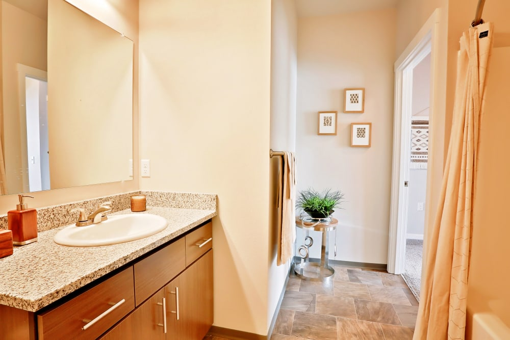 Bathroom at The Boulevard in Philomath, Oregon