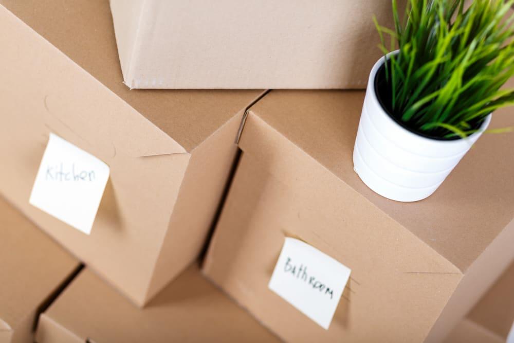 Boxes ready to be stored at Storage Etc... Salt Lake South in Salt Lake City, Utah