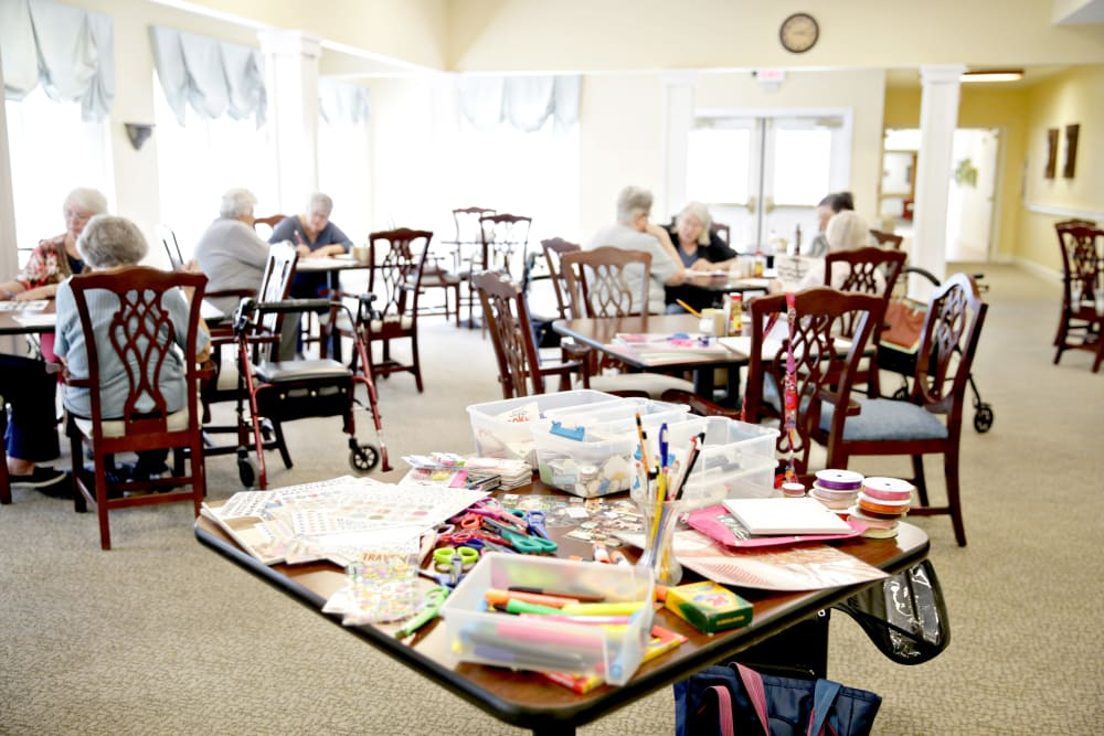 Craft room at Providence Assisted Living in Clarksville, Arkansas.