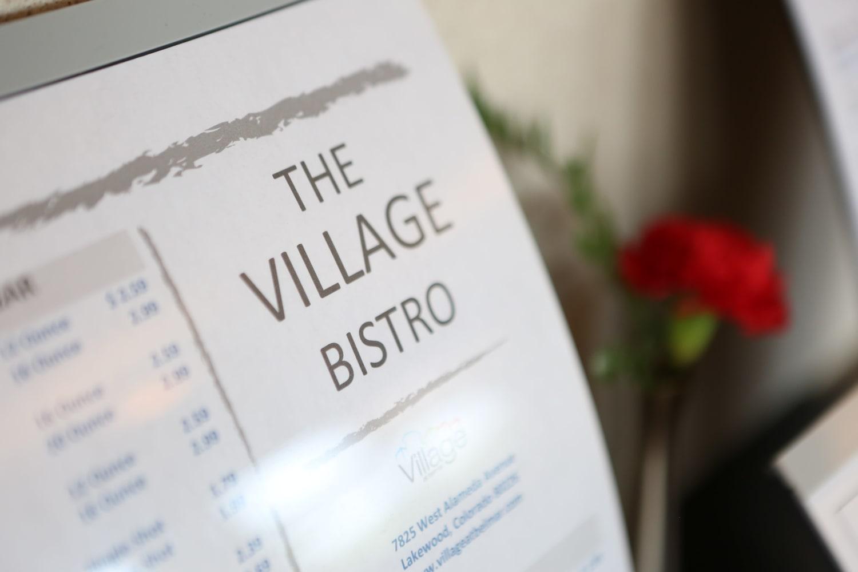 View of the Village Bistro menu at Village at Belmar