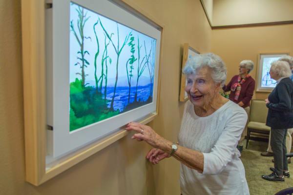 Seniors living a happy life here at Merrill Gardens at Green Valley Ranch