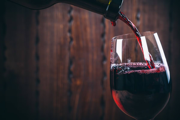 Pouring a glass of wine at Collection 55 Cellars 9122 in Redwood City, California
