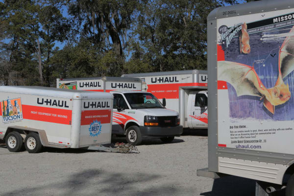 One of our moving trucks at Midgard Self Storage in Murrells Inlet, South Carolina