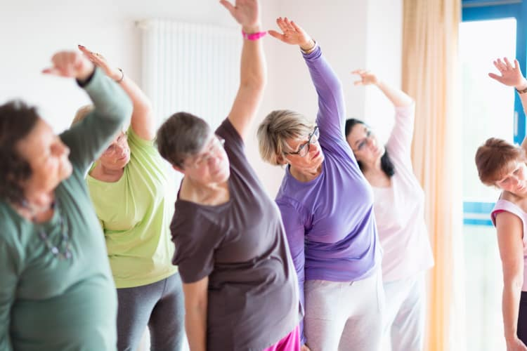 Yoga programs at Residence 600 senior apartments